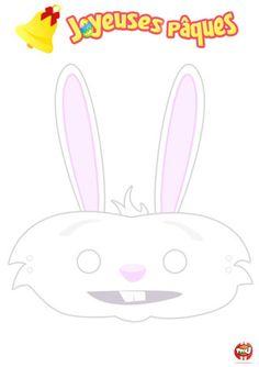 Coloriage : Découvre ce masque de lapin. N'est-il pas mignon ? Imprime gratuitement ton masque de lapin sur TFou.fr. Tu pourras ensuite le d...