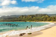 Pounders Beach | Located on the northern tip of the island, Pounders Beach (also known as Laie Beach Park) is a prime body boarding spot.