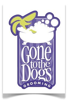 Grooming side of the dog daycare needed to fit with the primary brand but maintain its originality Dog Daycare, Logo Design, Menu, The Originals, Fit, Dogs, Decor, Menu Board Design, Decoration