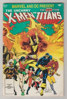 Marvel and DC Presents: Uncanny X-men and the by RubbersuitStudios #teentitans #xmen #comicbooks