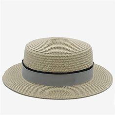 8245bb17cc Sombrero para El Sol Paja de Verano para Mujer Top Flat Dome Playa de Playa  Sombrero