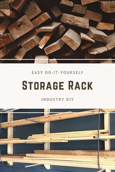The Woodworking Hot Touch Lumber Storage Rack, Wood Storage Rack, Garage Storage, Woodworking Organization, Diy Organization, Organization Ideas, Woodworking Classes, Woodworking Projects Diy, Easy Projects