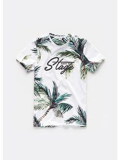 Heren palmen t-shirt wit - The Sting