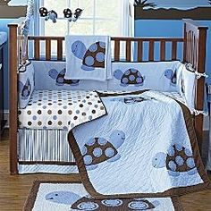 """""""Mod Turtle"""" Baby Bedding and Accessories 