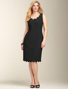 Scalloped sheath dress