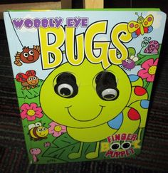 WOBBLY EYE BUGS FINGER PUPPET BOARD BOOK, GREAT READ, GUC