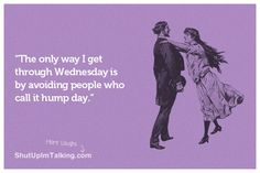 It's Hump Day! hahaha! friggin amazing ecards at shutupimtalking.com Find Someone, Cute Quotes, Funny Quotes, Quotes That Describe Me, Secret Obsession, Love Words, I Laughed, Shit Happens, Laughter