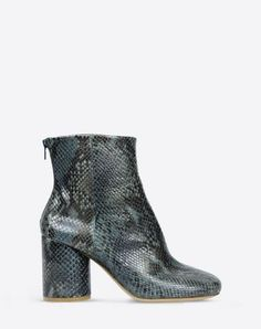 Maison Margiela PRE FALL 2015 boots available in RED snake skin