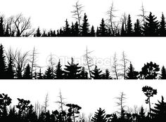 Forest Silhouette Tattoo Image stock, silhouette and stock illustrations on pinterest