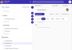Recurring Tasks: You can create a repeating task, that will start and end everyday, during the period assigned #planning #taskmanagement #productivity