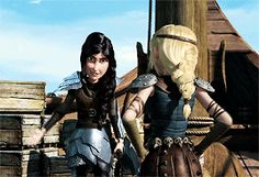 Heather & Astrid. My most favorite HTTYD BROTP after Hiccup and Toothless! XD