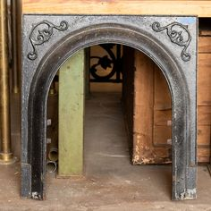 Salvaged Cast Iron Fireplace Surround - Columbus Architectural Salvage