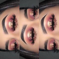 beaux yeux - Make-up Ideen - Maquillage Makeup Eye Looks, Cute Makeup, Prom Makeup, Gorgeous Makeup, Pretty Makeup, Skin Makeup, Eyeshadow Makeup, Eyeshadows, Rose Gold Makeup Looks