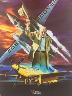 """AND THE LEGEND FLIES ON by David Mueller R.A./""""Bob/"""" Hoover Aviation Art"""