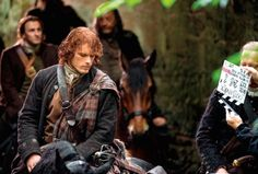 NEW BTS pic of Jamie and Ian from EW via outlander-online #Outlander