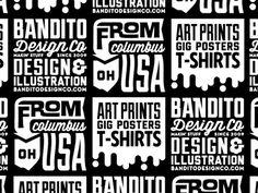 Bandito pattern shot - word branding