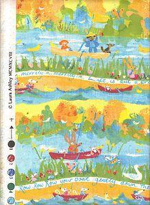 Arthur sandersson england 1979 vintage fabric children for Vintage childrens fabric prints