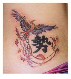 Phoenix and Kanji by towertattoos.deviantart.com on @deviantART