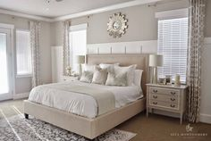 Master Bedroom, Neutral Bedroom, Neutral Master Suite, Stunning neutral bedroom by:Sita Montgomery Interiors - Bedroom Design Ideas Neutral Bedrooms, Bedroom Colors, Trendy Bedroom, Neutral Colored Bedroom, Neutral Bedroom Furniture, Bedroom Colour Schemes Neutral, Taupe Bedroom, Neutral Curtains, Neutral Paint