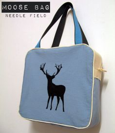 Needle Field's Carry-all Bag - Free Pattern and Sewing Tutorial #sewing