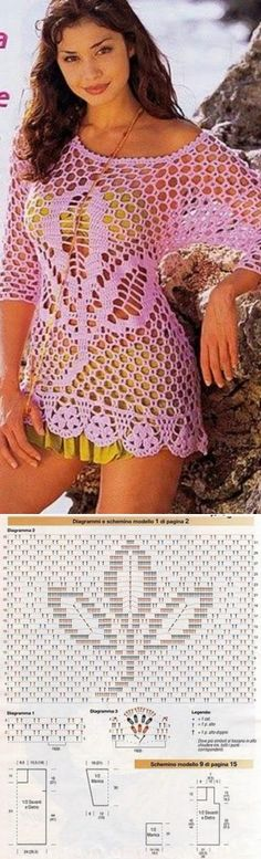 leaf pattern crochet blouse...♥ Deniz ♥