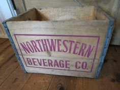 Vintage Wooden Soda Crate Box by thevrose on Etsy