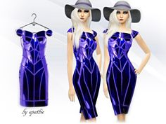 Constructive Dress by Apathie at TSR via Sims 4 Updates