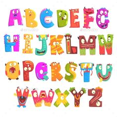 Buy Colorful Cartoon Children English Alphabet by Top_Vectors on GraphicRiver. Colorful cartoon children English alphabet with funny monsters. Education and development of children detailed colorf. Alphabet Pictures, Education And Development, Funny Monsters, Animal Alphabet, Abc Alphabet, Banner Printing, Vector Art, Illustrations, Graphic Illustration