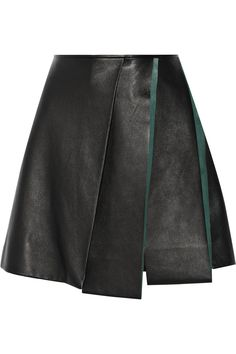 VionnetLayered leather mini skirt- something different