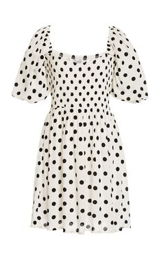 Ilaria Polka Dot Crepe Mini Dress by Faithfull The Brand | Moda Operandi