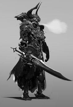 Artstation - hell wraith, johnathan reyes character design, 2019 フ ァ ン タ ジ- Fantasy Armor, Dark Fantasy Art, Medieval Fantasy, Dark Art, Fantasy Character Design, Character Design Inspiration, Character Art, Lion Noir, Illustration Fantasy