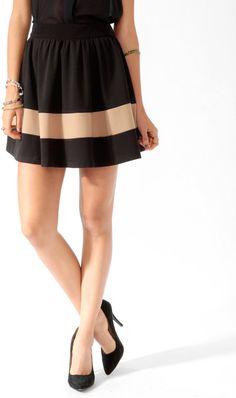 #Forever21                #Skirt                    #Colorblocked #Skater #Skirt                        Colorblocked Skater Skirt                           http://www.seapai.com/product.aspx?PID=98883