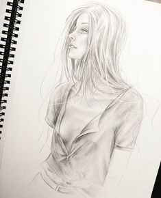 Galerie: Zeichnungen und Bilder - Famous Last Words Pencil Drawings Of Girls, Girl Drawing Sketches, Sexy Drawings, Realistic Drawings, Female Drawing, Female Art, Art Sketchbook, Figure Drawing, Art Girl