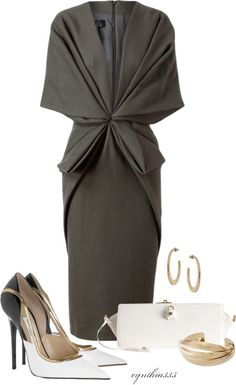 """""""Pleats & Gathers"""" by cynthia335 ❤ liked on Polyvore"""