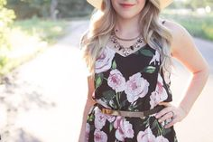 """Currently crushing on the @shopprettylittledetails """"Lottie"""" necklace! She pairs perfectly with everything from casual tees to flirty floral rompers! Blog post coming soon!"""