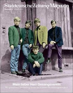Rolling Stones in 1963 shot by Philip Townsend on the cover of Suddeutsche Zeitung Magazin March 2012 | Cover Junkie