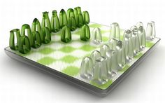 """Revitalizing the classic game of chess, Russian designer Yar Rassadin inspired by the ring symbol has devised a unique chess set that presenting a curvy design adds to the elegance of the traditional pieces. Called """"Air Chess,"""" the see-through. Modern Chess Set, Chess Set Unique, Chess Pieces, Game Pieces, Chess Board Set, Chess Sets, Glass Chess Set, Architecture Art Design, Chess Players"""