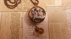 Steampunk copper pipe resin fairy necklace. Made by NewmansJules.