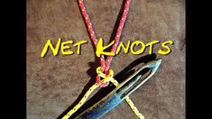 Net Making Knots Close Up The Two Net Making Knots That I Use and Why I have done a couple of net making videos and some people have asked why I use two diff. Rope Knots, Macrame Knots, Net Making, Cast Nets, Knots Guide, Medieval Crafts, Knot Out, Fishing Rod Storage, Decorative Knots