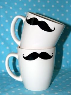A mustache mug--brilliant for Father's Day! #mustache #cup #FathersDay