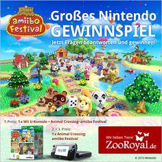 Kennt ihr schon das neue Animal Crossing: amiibo Festival für die Wii U?   Zusammen mit Nintendo verlosen wir tolle Animal Crossing Gewinne! Macht jetzt mit und hüpft schnell in den Lostopf!   Hier geht's zum Gewinnspiel ➡ http://www.zooroyal.de/nintendo-gewinnspiel