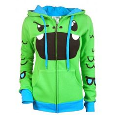 So So Happy - Ladies Tribe Green Hoodie This super cool Hoodie is by our new brand SO SO HAPPY! It features one of their adorable characters Tribe.