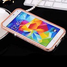 Genialer und super luxeriöser Alu Strass Bumper für Iphone 4, 5, 6, 6+, Samsung S4, S5, S6 Modelle. Top Weihnachtsgeschenk