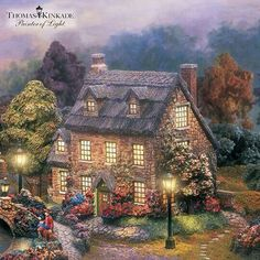 Shop great selection of rare Thomas Kinkade gifts and collectibles at The Bradford Exchange. We have Exclusive collection of art of Thomas Kinkade featuring on Limited Edition collectibles, Paintings, Home Decor and more. Thomas Kinkade Art, Thomas Kinkade Christmas, Kinkade Paintings, Oil Paintings, Thomas Kincaid, Art Thomas, Christmas Scenes, Christmas Mantles, Christmas Villages
