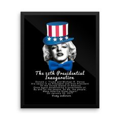 Inauguration President Donald J. Trump Marylin Monroe Poster