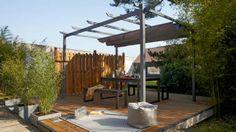 Terrasse espace détente // http://www.deco.fr/diaporama/photo-10-inspirations-pour-vivre-au-jardin-63986/terrasse-piece-a-vivre-907276/#slideshow_trans