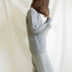 vintage grey fisherman sweater,