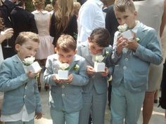 Boys in linen suits from paade mode