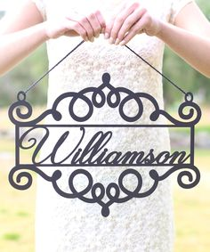Unfinished Wood Personalized Ornate Wall Sign 163888