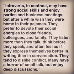 Description of introverts.